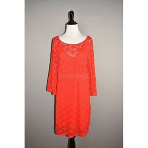 LAUNDRY BY DESIGN NEW Floral Lace Shift Dress